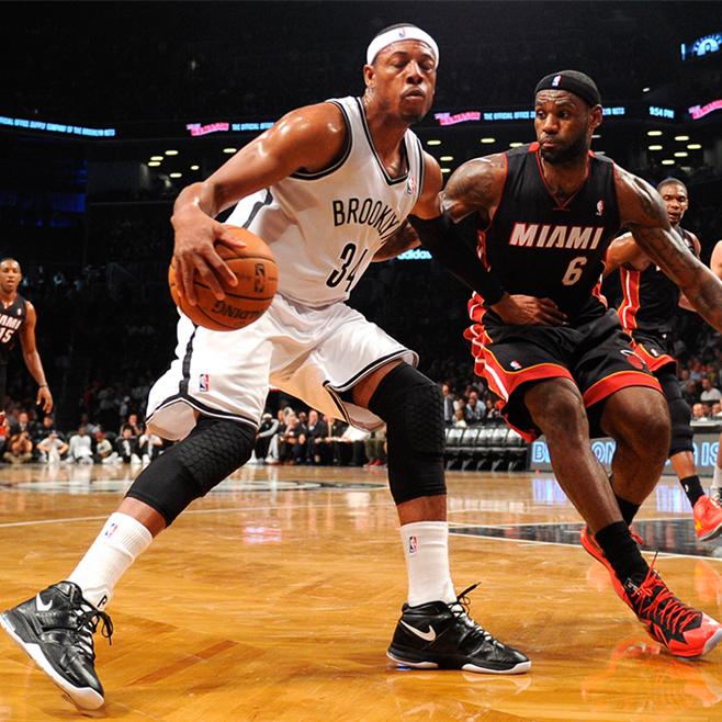 LeBron James & Paul Pierce, viva basquet, basquet, basquetbol, basketball, nba