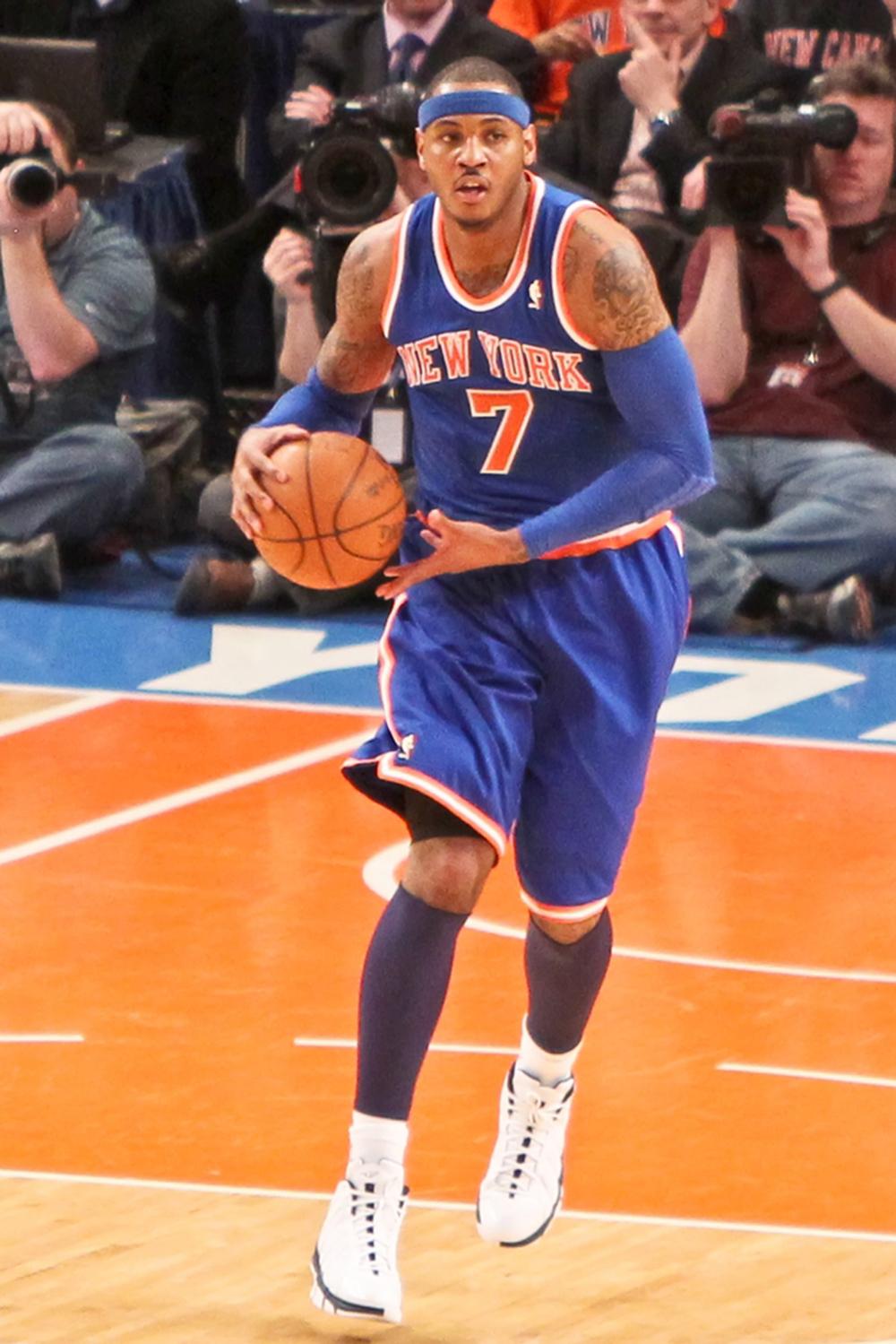 Carmelo Anthony jugador de basquetbol