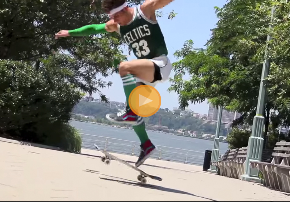 Skateboarding-Globetrotter en Viva basquet por Diego Zanassi