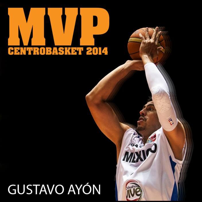 Gustavo Ayón como MVP de Centrobasket 2014