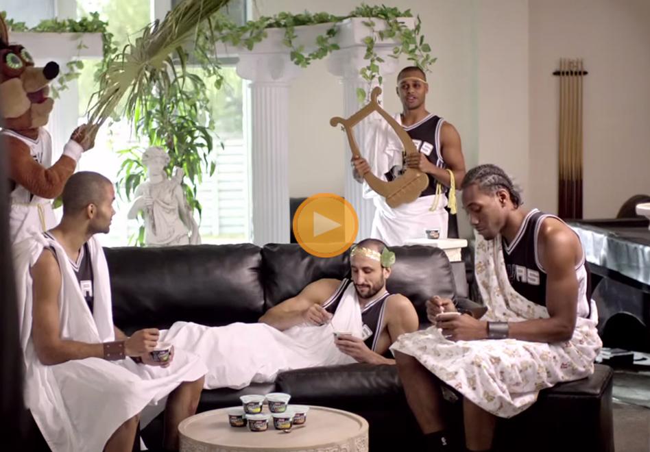 Los Spurs en plan de actores.
