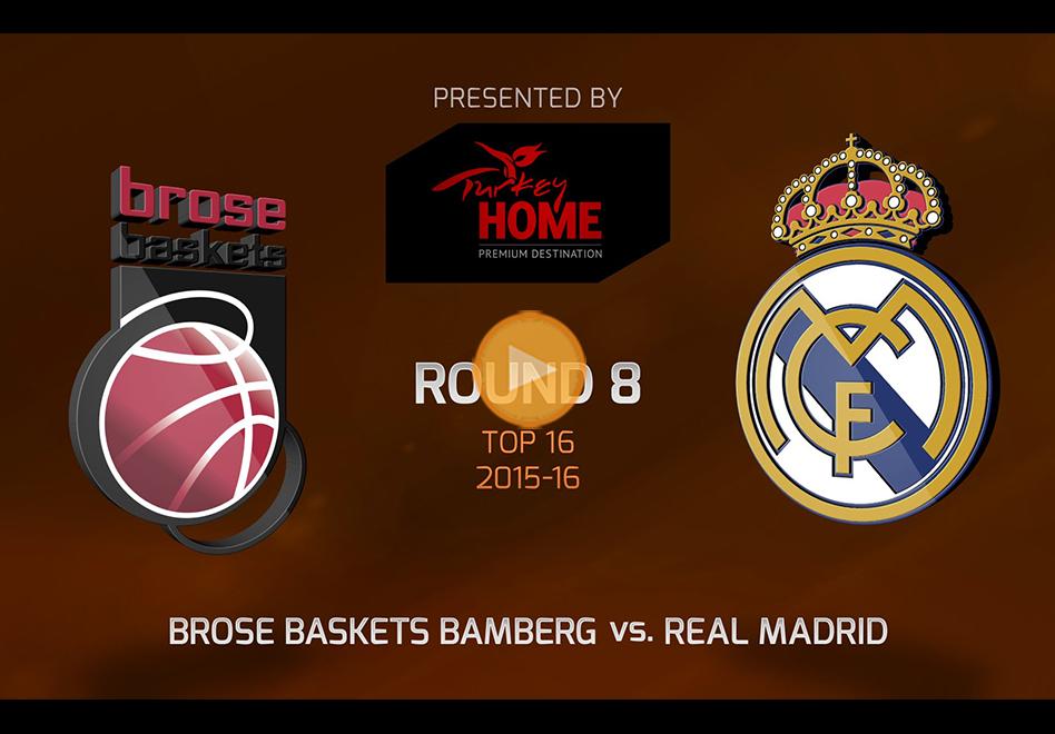 Triunfo del Real Madrid ante el Brose Baskets