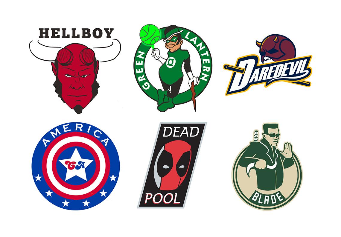 Logos de la NBA inspirados en superhéroes