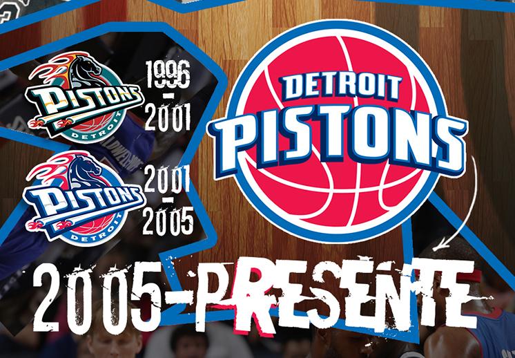 La evolthumbnail. ución del logo de los Pistons