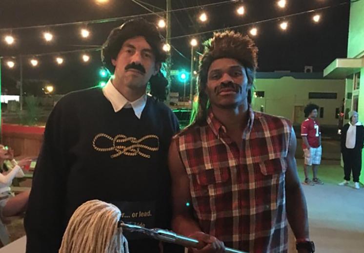 Westbrook y Collison están listos para el Halloween foto 1