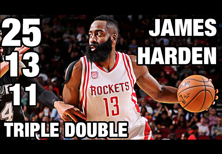Números históricos de James Harden con Houston