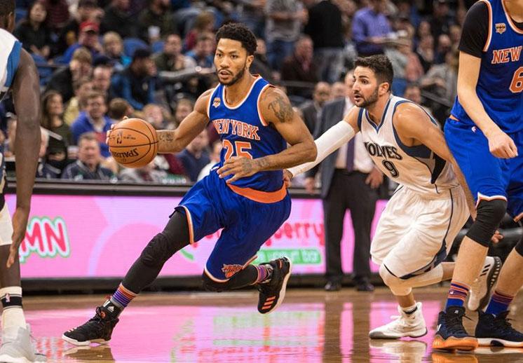 Derrick Rose se ve retirándose con los Knicks