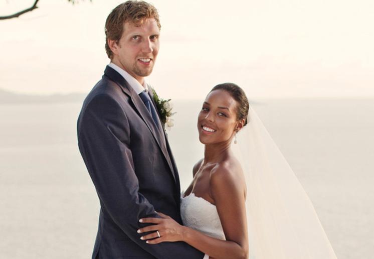 thumbnail. Dirk Nowitzki hace publico su matrimonio interracial