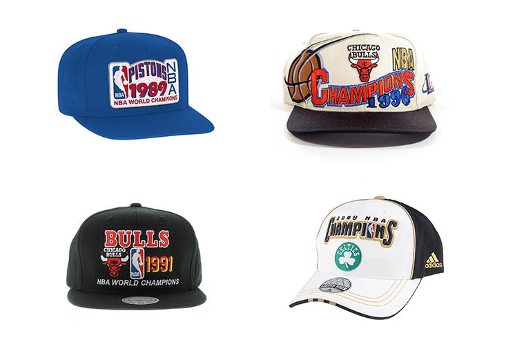 455bc6416b82d Las gorras de los campeones de la NBA