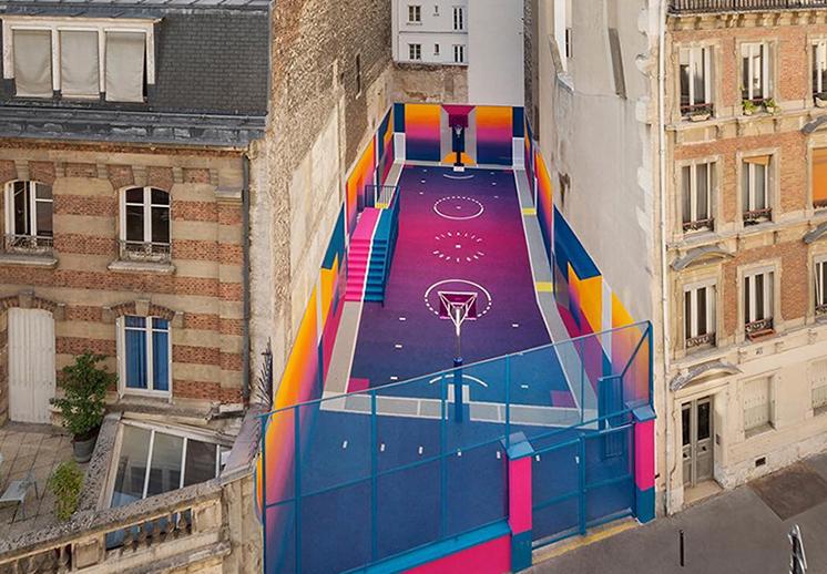Surge una nueva cancha technicolor en Paris diseñada por Pigalle foto 3