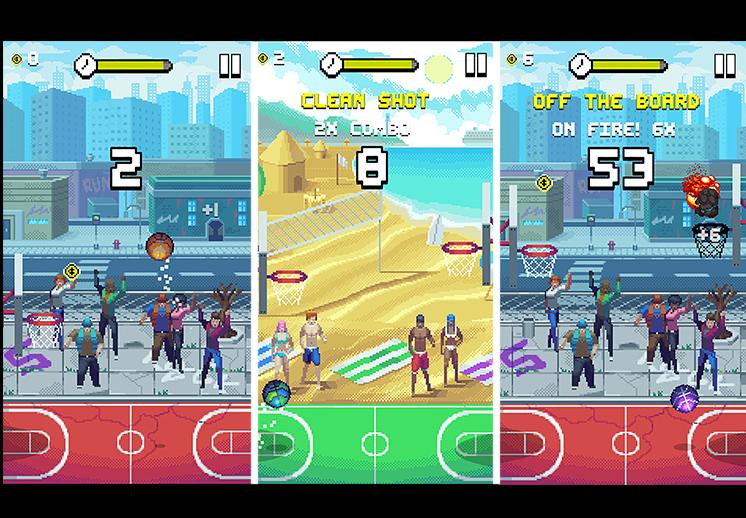 thumbnail. Bouncy Hoops app de básquet bol recomendada por viva basquet