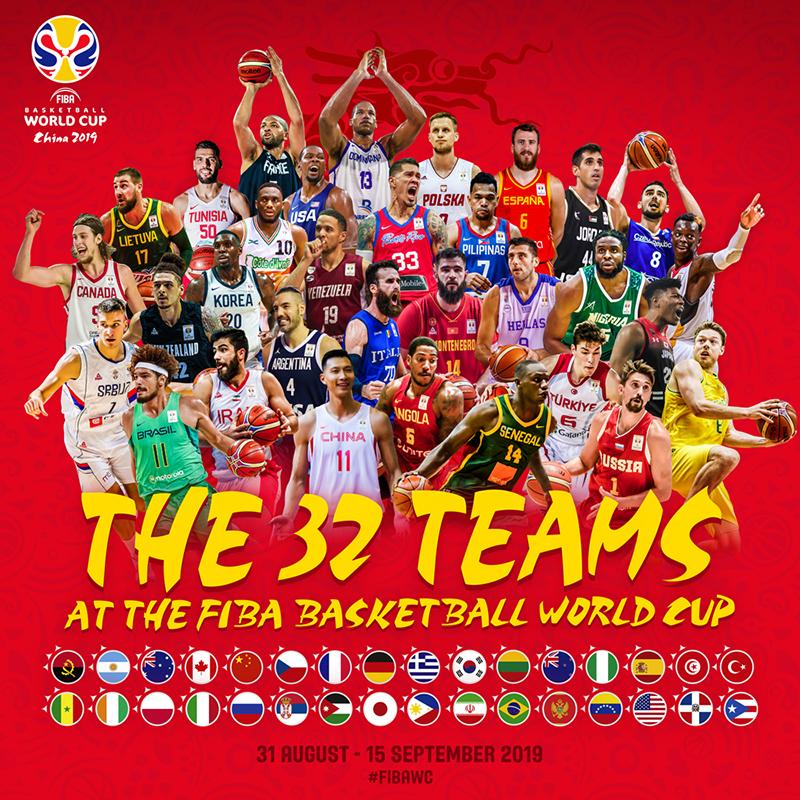 Listos los 32 calificados a FIBA Basketball World Cup China 2019