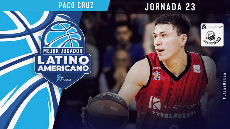 Paco Cruz mejor jugador latinoamericano de la jornada