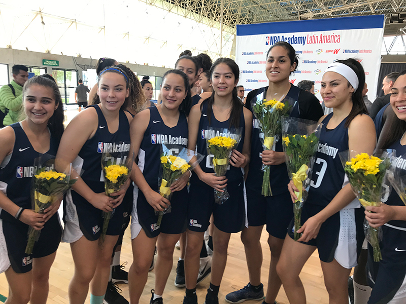 Las mexicanas presentes en el Women's Camp de NBA Academy