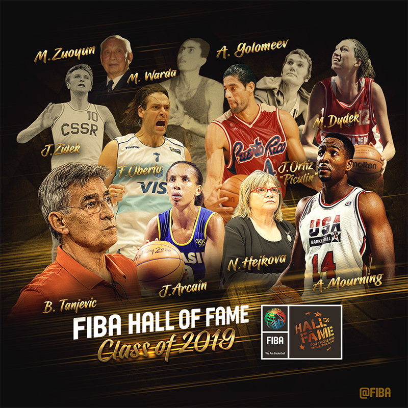 Nuevos inmortales en el Salón de la Fama de FIBA