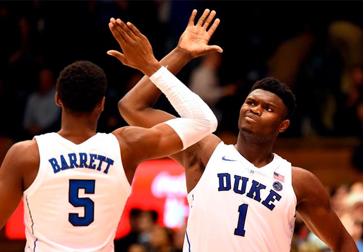Williamson y Barrett se lucieron con Duke