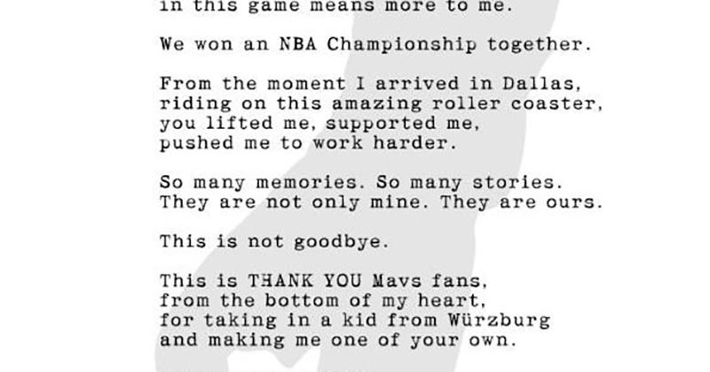 El gesto de mucha clase de Dirk Nowitzki
