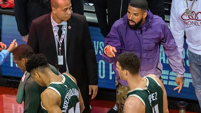 Drake hizo enojar a los Bucks de Milwaukee