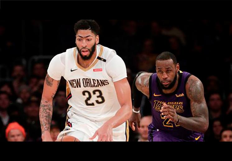 Anthony Davis llega a Lakers