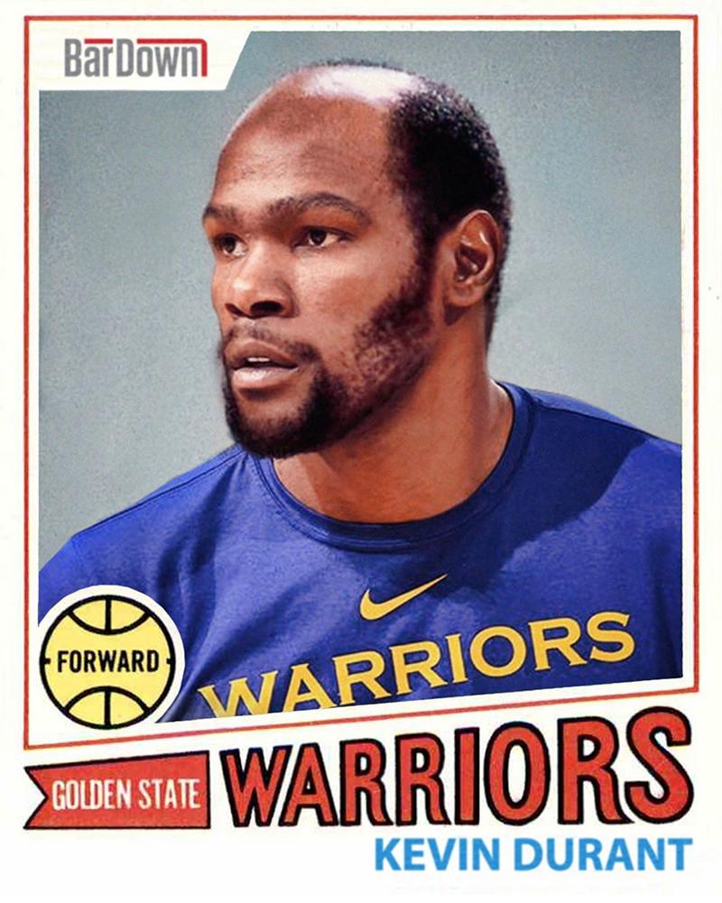 ¿Cómo se verían los jugadores de Raptors y Warriors en la década de los 70's?