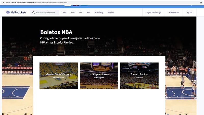 ¿Cómo comprar boletos para la NBA?