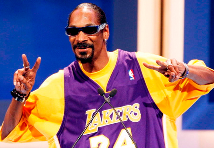 La afición de Snoop Dogg por los Lakers