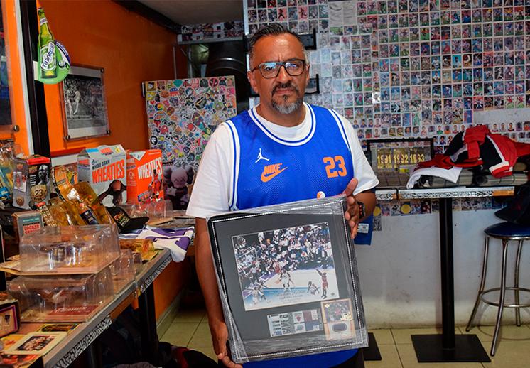Benjamín Vega, crónicas de un coleccionista de Jordan y los Bulls